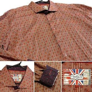 7 Downie St Size EU 9 US XL Flip Cuff Dress Shirt